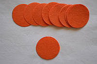 Фетровые кружочки d=4см. цвет на фото