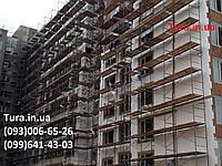 Фасадные леса рамного типа для строительства фабрик