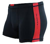 Плавки мужские для купания с защитой от хлора Radical Shoal, черные с красным