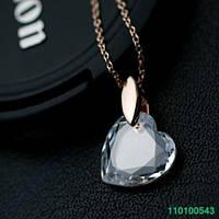 Кулон. Позолота Золотом. SWAROVSKI 0543 Сердце