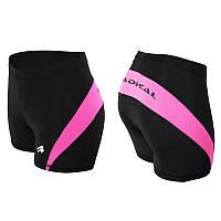 Спортивные шорты женские Radical Flexy, термошорты, черные с розовым