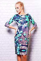 Оригинальное женское платье из дайвинга до колен Инди сукня Лоя-1 д/р