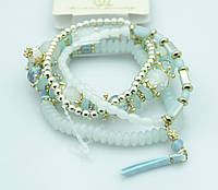 Модный наматывающийся браслет из бус. Повседневные украшения от Бижутерии оптом RRR. 914