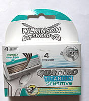 Кассеты Wilkinson Sword Quattro Titanium Sensitive 4 шт