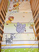Детское постельное белье и защита (бортик) в детскую кроватку (Мадагаскар салатовый), фото 3
