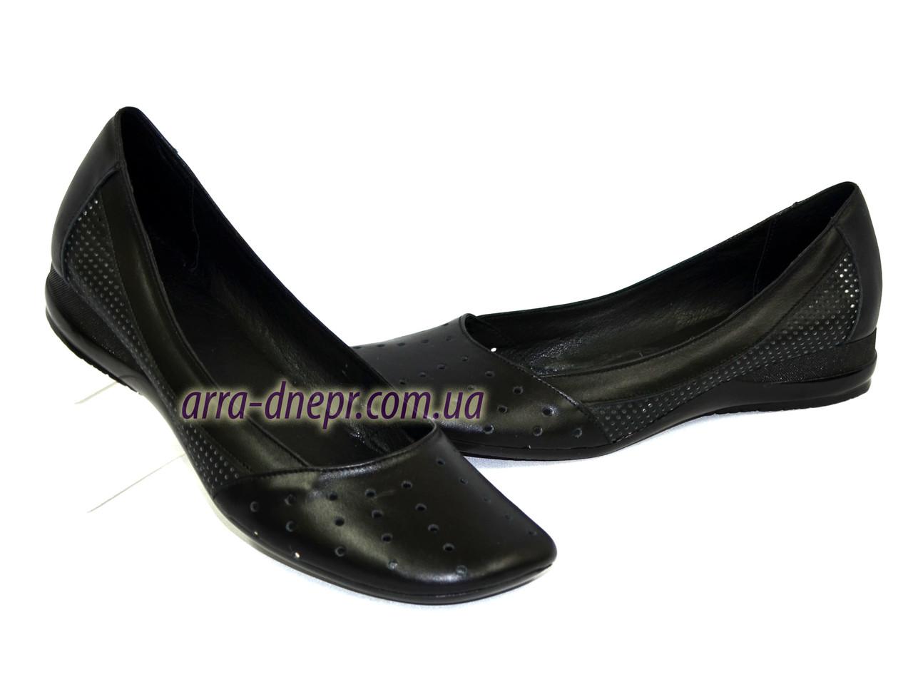 b47a370eacc6 Балетки кожаные черные женские на низкой подошве