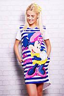 Полоска Minnie футболка Фрак-2