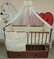 Комплект постельного белья в кроватку жаккард с вышивкой Овечка