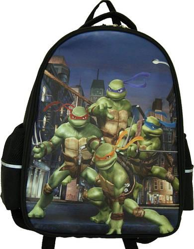 """Качественный рюкзак, школьный """"Черепашки Ниндзя"""" 13 л. Wallaby, 114-3 черный"""