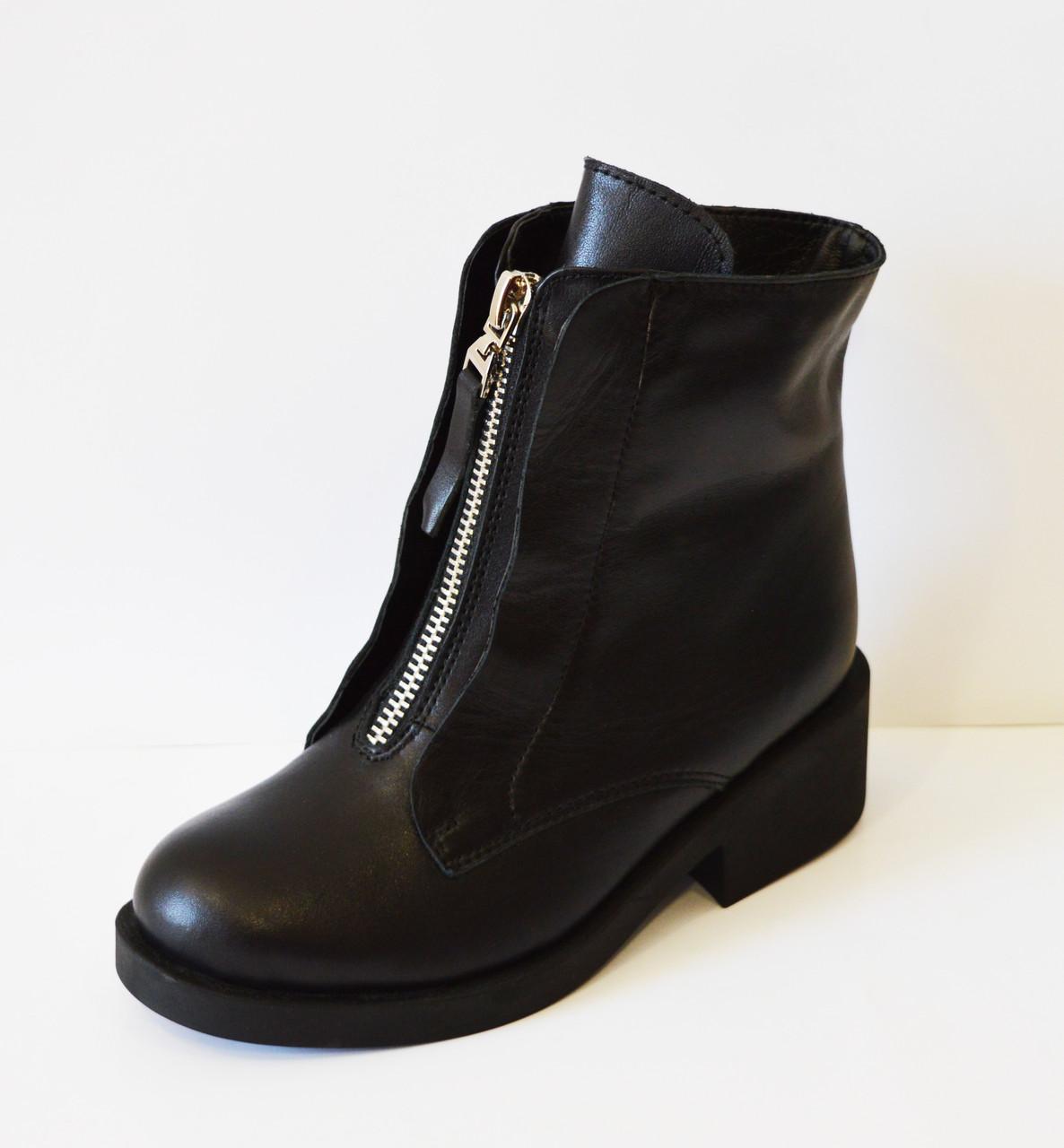 Кожаные зимние женские ботинки Kluchini 3801
