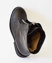 Кожаные зимние женские ботинки Kluchini 3801, фото 2
