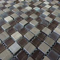 Мозаика из стекла и натурального камня Vivacer SIN mix01