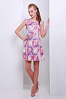 Женское летнее платье из жаккарда с цветами сукня Анабель б/р
