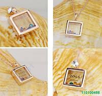 Кулон + Сережки. Покр. Золото. SWAROVSKI. 0466