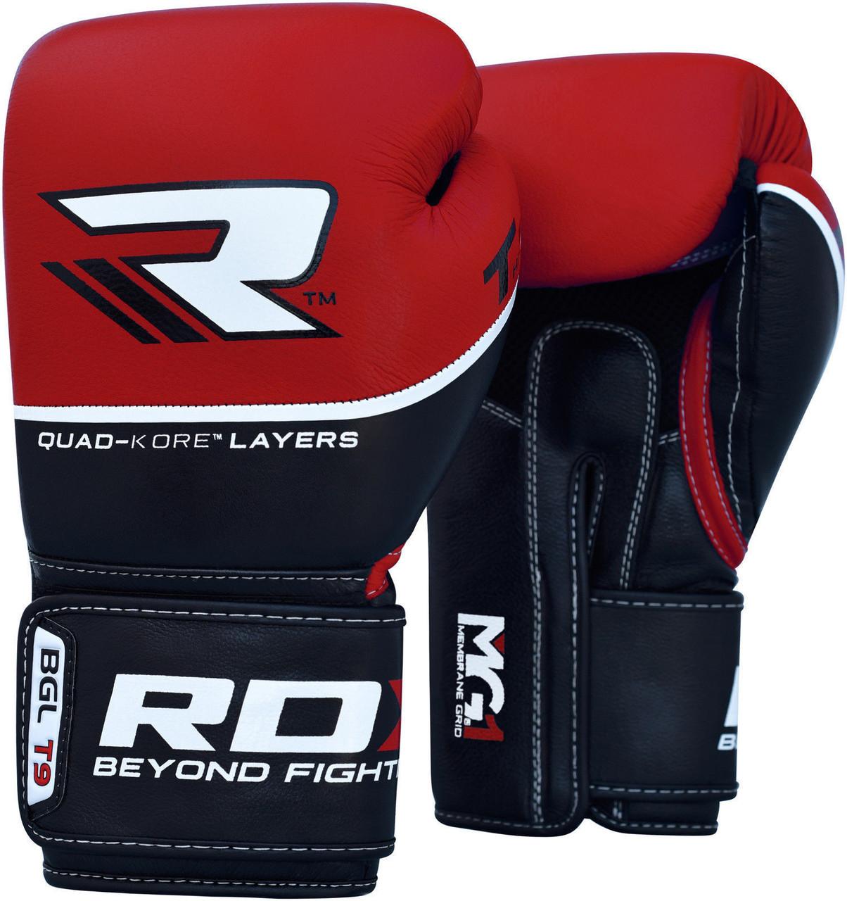 Боксерские перчатки RDX Boxing Glove T9 Red 10 oz
