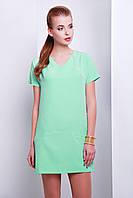Короткое летнее однотонное платье спортивного стиля со змейкой сзади сукня Космо к/р