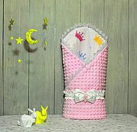 Конверт-одеяло на выписку Piccolino Разные цвета!!! Milky Pink