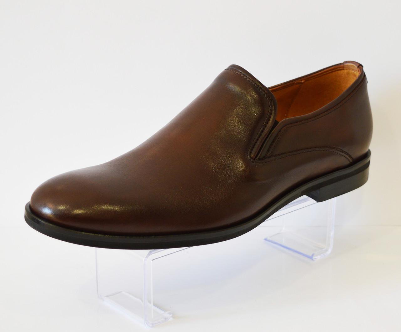 Коричневые мужские туфли Fabio Conti