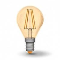 Светодиодная лампа VIDEX 4Вт  G45FA/филамент Е14 Теплый белый 2200К