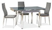 Стол+на кухню стеклянный  ТВ21 кофе с молоком 80/130х65х75 см