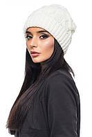 Женская тёплая шапка белая / Шапка 1046