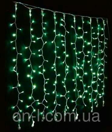 Гирлянда DELUX CURTAIN 912LED 2x3m зеленая/черный провод внешняя