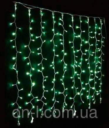 Гирлянда DELUX CURTAIN 912LED 2x3m зеленая/черный провод внешняя, фото 2