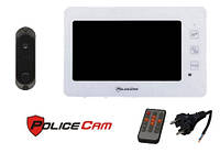 PoliceCam PC-938R2 W 220 В и DVC-4Q комплект видеодомофона