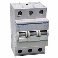 Автоматический выключатель нагрузки Hager MC306A Iн = 6 А 3п характеристика С