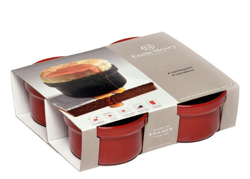 Набор форм порционных Emile Henry 9,5 см красных, 4шт 344028