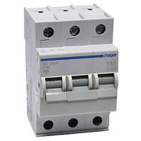 Автоматический выключатель нагрузки Hager MC316A Iн = 16 А 3п характеристика С
