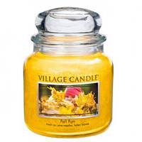 """Ароматическая свеча в стекле Village Candle """"Осенний праздник"""". 455 гр/ 105 часов"""
