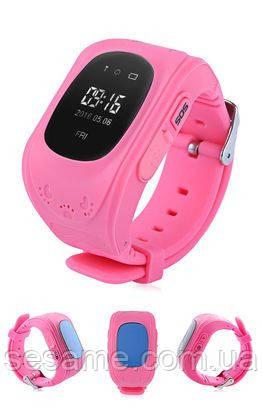 Детские умные часы с gps трекером Smart Baby Watch Q50 Розовые