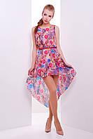 Женский летний сарафан из шифона с ассиметричным низом платье Фелони