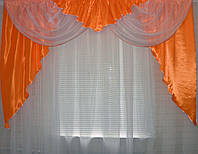 Ламбрекен из атласа №43 Оранжевый
