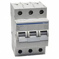 Автоматический выключатель нагрузки Hager MC363A Iн = 63 А 3п характеристика С