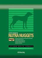Nutra Nuggets (Нутра Нагетс) Сухой корм для взрослых собак Performance 15кг (зеленая)