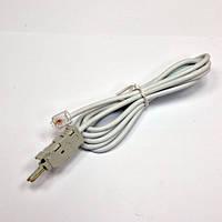 Шнур тестовый для плинта, 2 контакта c конектором 6P2C, 1.5 м (паралель)