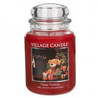 """Ароматическая свеча """"Рождество"""" Village Candle 740 гр/ 170 часов"""