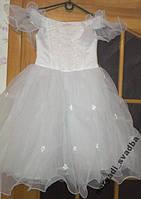Воздушное белое детское платье на 4-6 лет