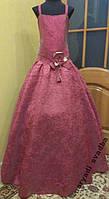 NEW!Детское платье на 8-12 лет цвета бордо-хамелеон