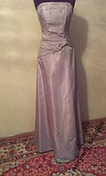V.60 Бледно-сиреневое вечернее платье ROKSOLANA с вышивкой, размер 46