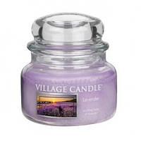 """Ароматическая свеча в стекле Village Candle """"Лаванда"""". 315 гр/ 55 часов"""