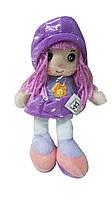 Мягконабивная кукла с вышитым лицом фиолетовая, 20 см, Devilon (31908-1)