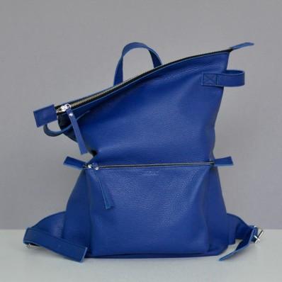 Кожаный рюкзак Voyager Night Blue синий