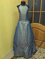 NEW! Детское платье на 8-12 лет цвета синий хамелеон