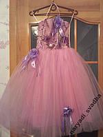 NEW!!! Розово-сиреневое детское платье на 5-7 лет