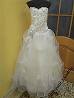 Нежное воздушное белое детское платье на 7-10 лет
