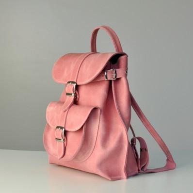 205d3853ba42 Женский кожаный рюкзак JIZUZ Tulip Bubblegum розовый, цена 1 535 грн.,  купить в Киеве — Prom.ua (ID#371262944)