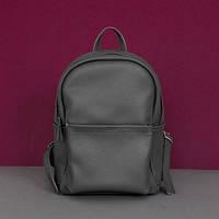 Женский кожаный рюкзак Jizuz Carbon Dark Grey серый